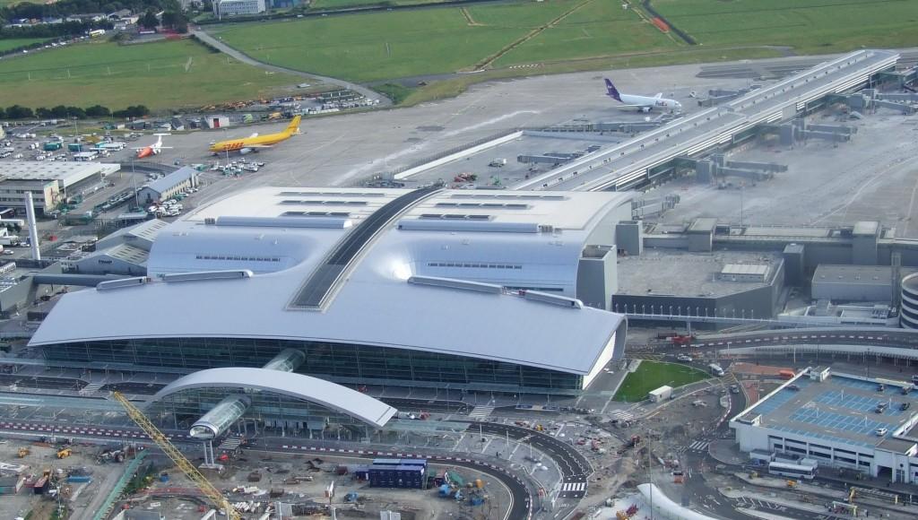 The sleek, ultramodern exterior of Dublin Airport