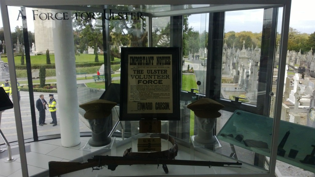 Wartime exhibits in the Glasnevin Cemetery museum