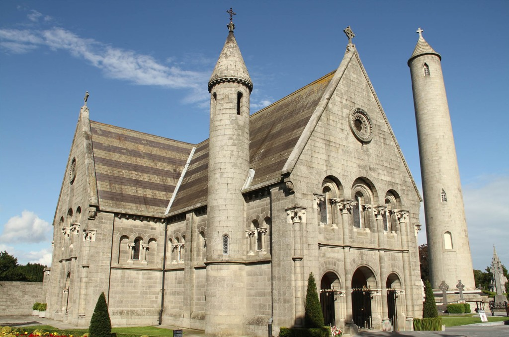 The sturdy edifice of Glasnevin Cemetery church