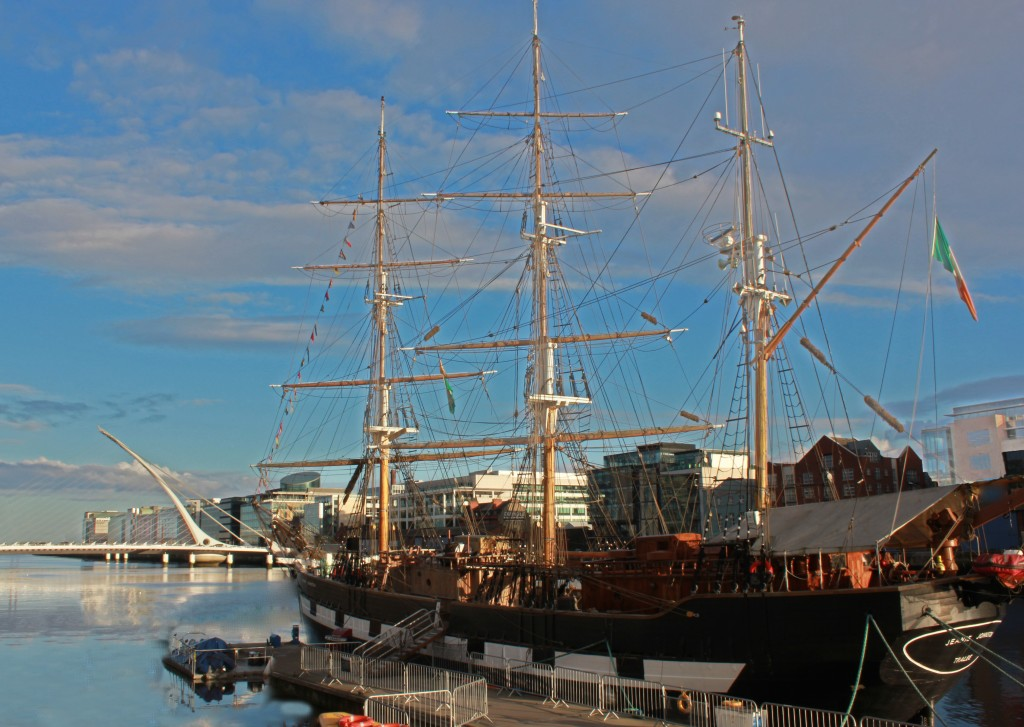 The faithful, accurate replica of the Jeanie Johnston tall ship