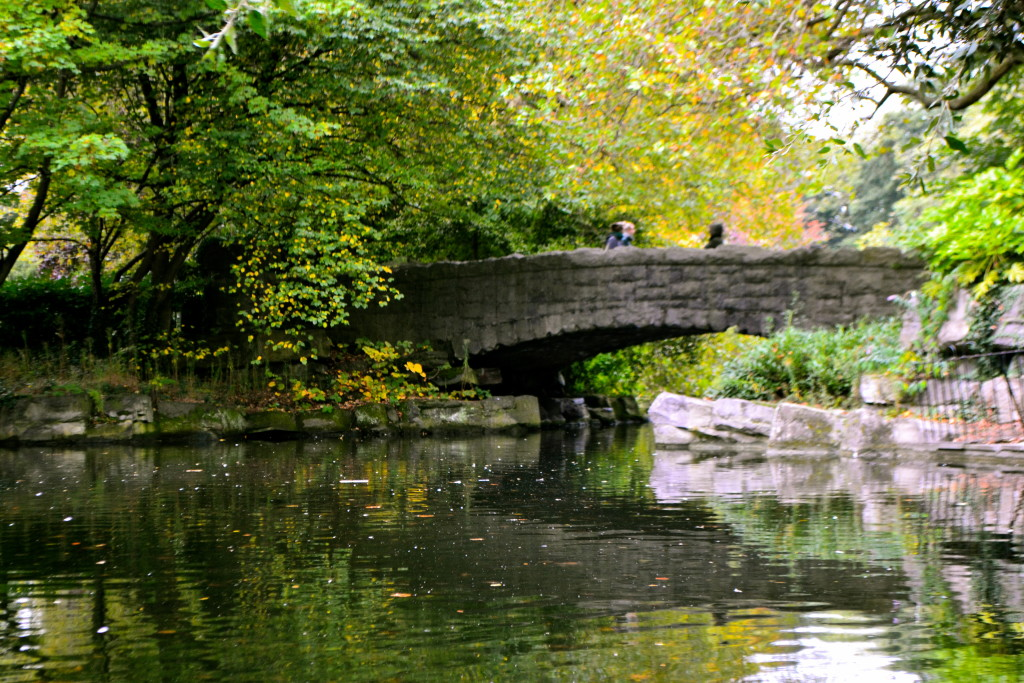 The old stone bridge in St Stephen's Green
