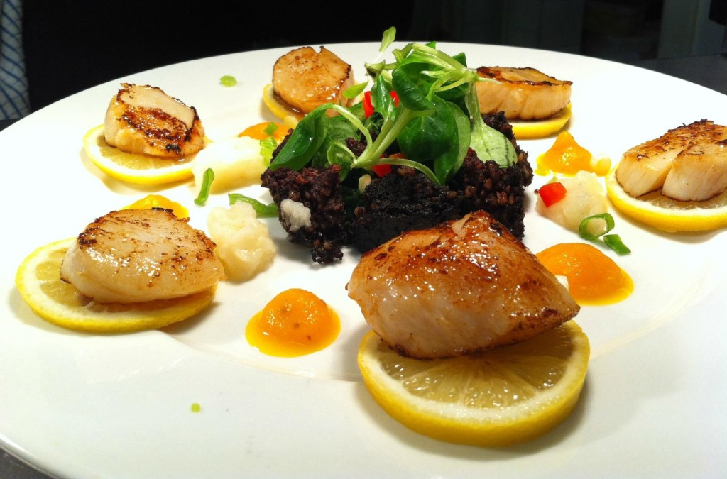 Fresh, mouthwatering scallops at Bistro Martello