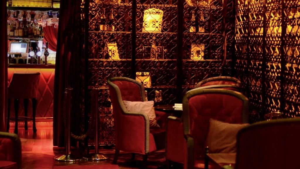 The amorous, chic interior of Lillie's Bordello