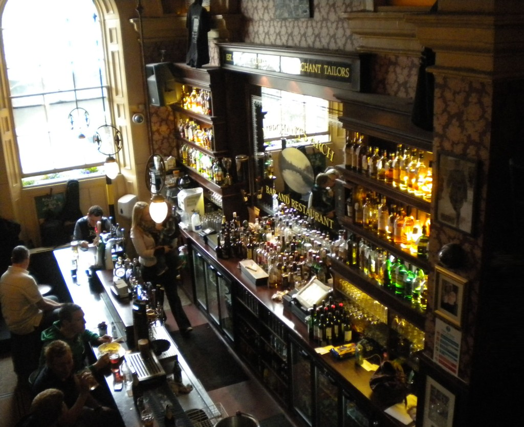 Merchants Arch Bar and Restaurant's old-fashioned pub interior
