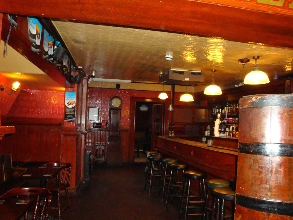 The old school bar and interior of Mulligan's, Dublin